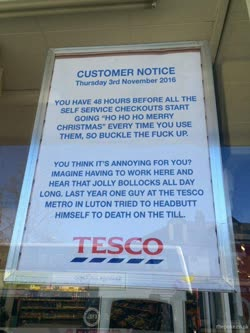 Customer Notice funny tumblr ☆ Facebook ☆ Twitter ☆ follow [this funny picture via lolsnaps]