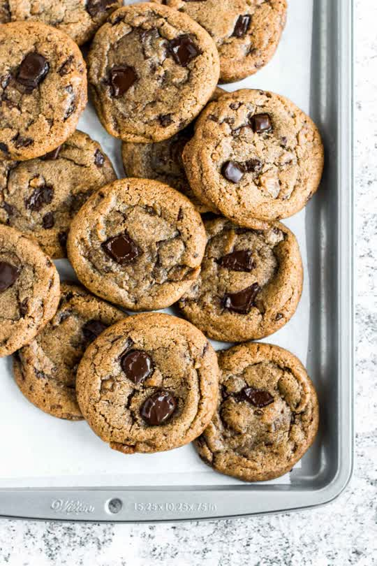 Brown Butter Toffee Chocolate Chunks Cookies