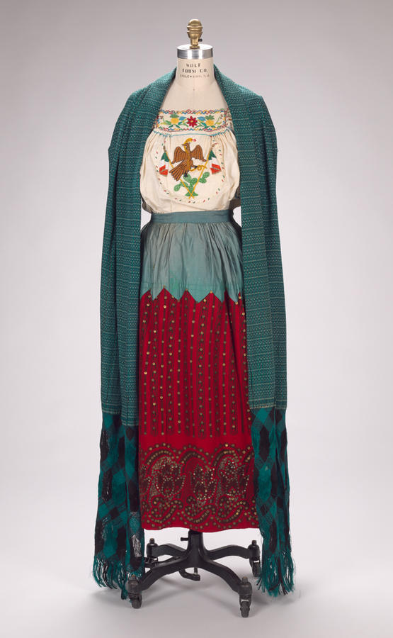 """China Poblana c.1925 """"La China Poblana, an Asian woman who lived in Puebla, came to Mexico in 1620 as a servant and left her mark on the traditions of the Spanish colonial region with her clothing. The girl who came to Mexico..."""
